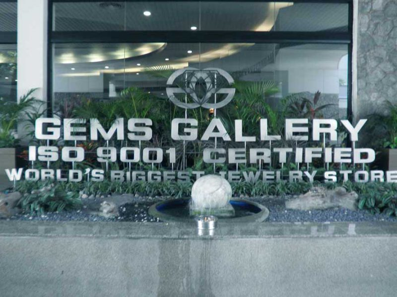 Gems Gallery Sign