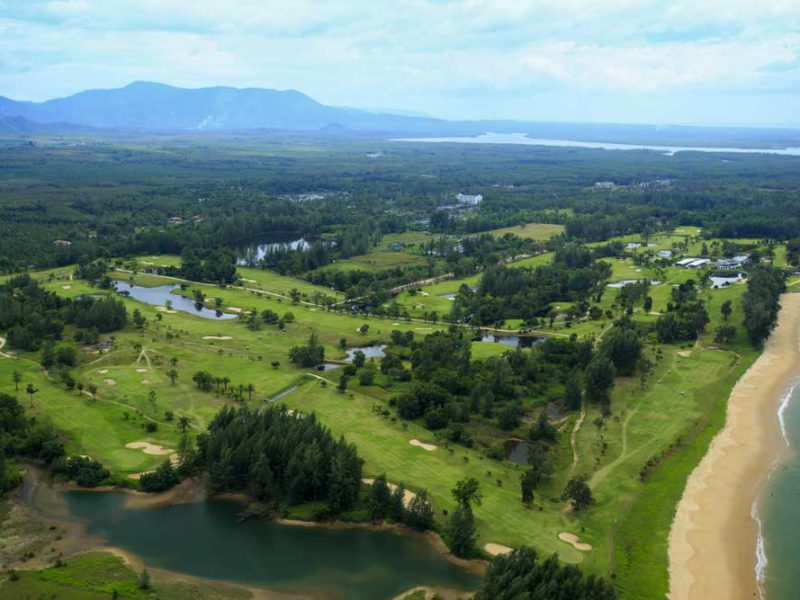 golf area- ariel view