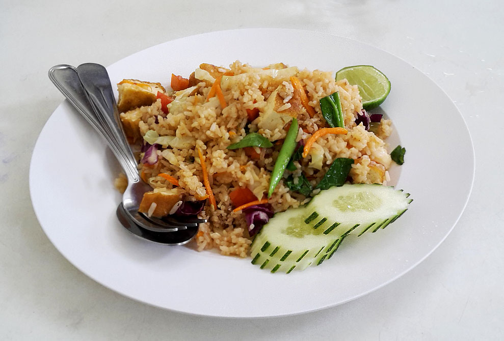traditional thai food - fried rice with vegetable