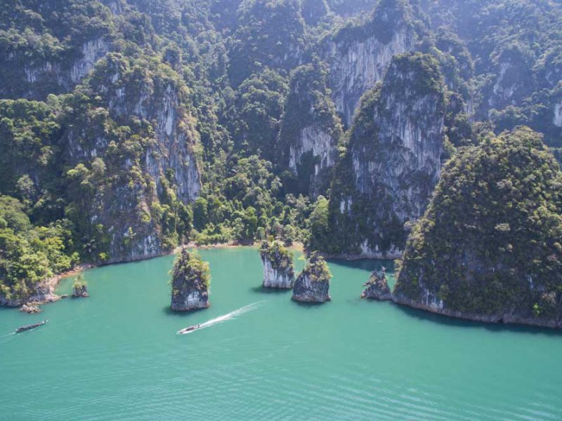 cheow lan lake ariel view