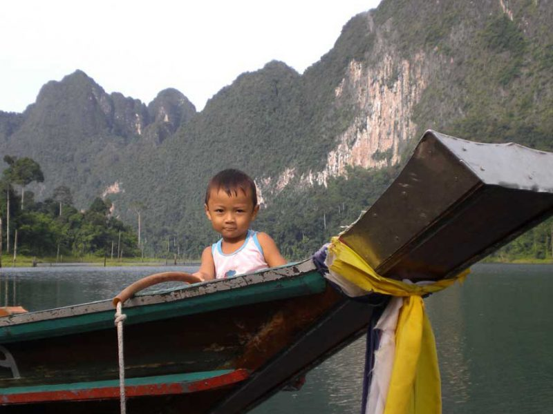 child and Longtailboat