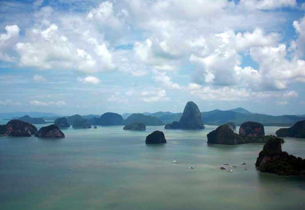 Phang Nga Bay as seen from the air