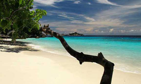 White sandy beach Similian Islands
