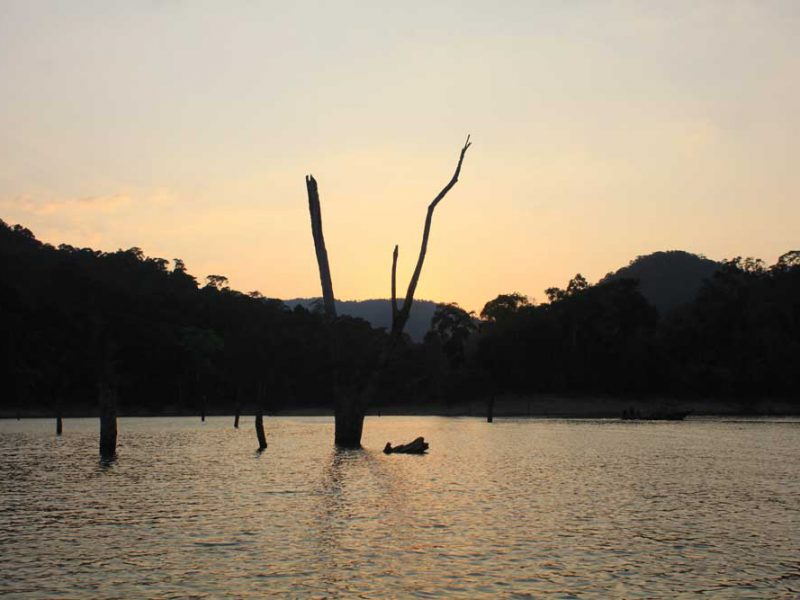 Sunset at Cheow Lan Lake