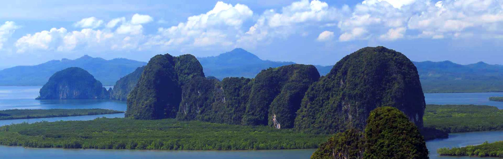 Wide view of Phang Nga Bay
