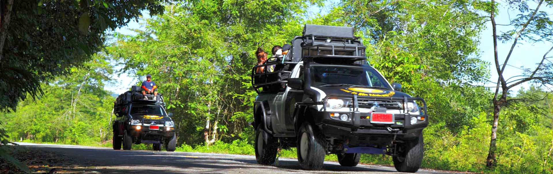 Khao Lak Land's off-road vehicles