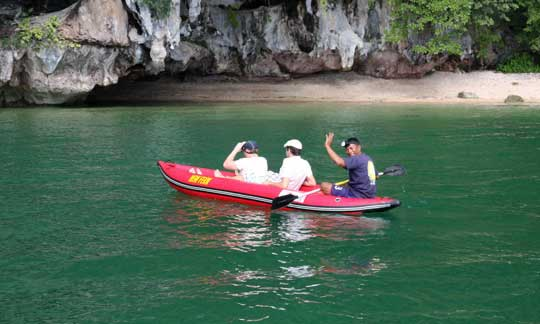Canoeing with guide around Phang Nga Bay