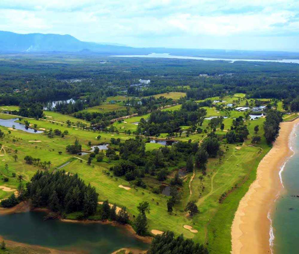 Aerial view of Tap Lamu Golf Course