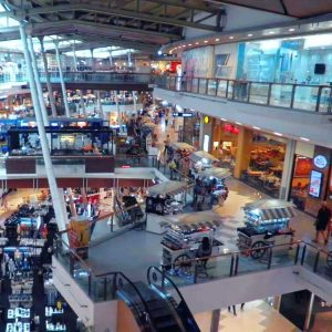 Inside Central Festival shopping centre in Phuket and Sightseeing