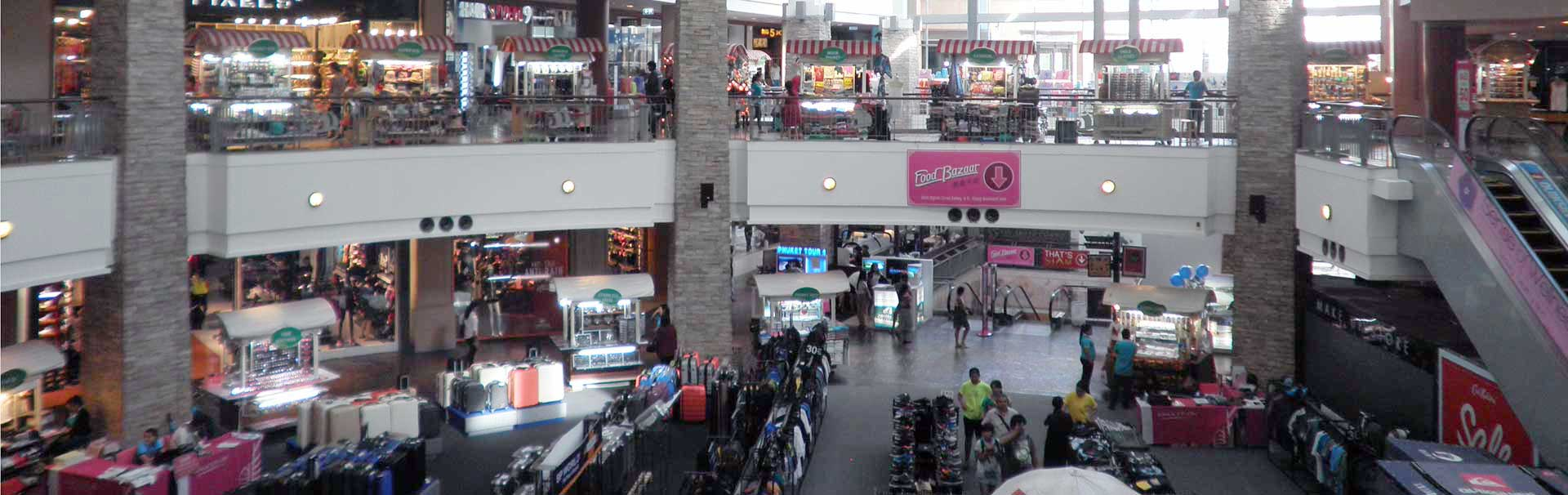 Inside Jung Ceylon shopper centre in Phuket