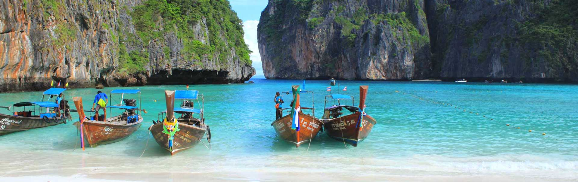 Traditional Long Tail boats at Koh Phi Phi