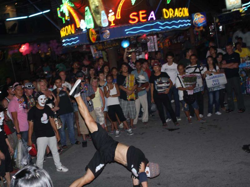 street dancer at patong Phuket Weekedn Market Khaolak