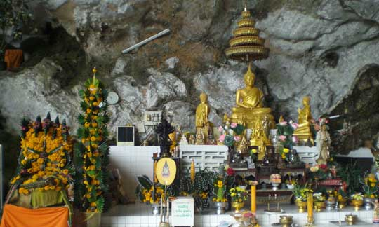 Shrine inside a cave