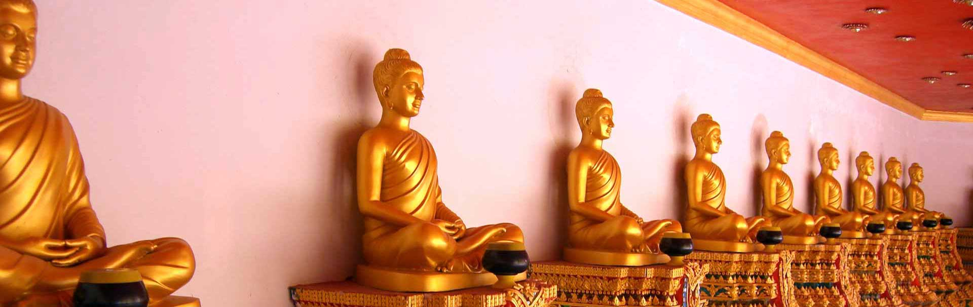 Buddha Statues in a row