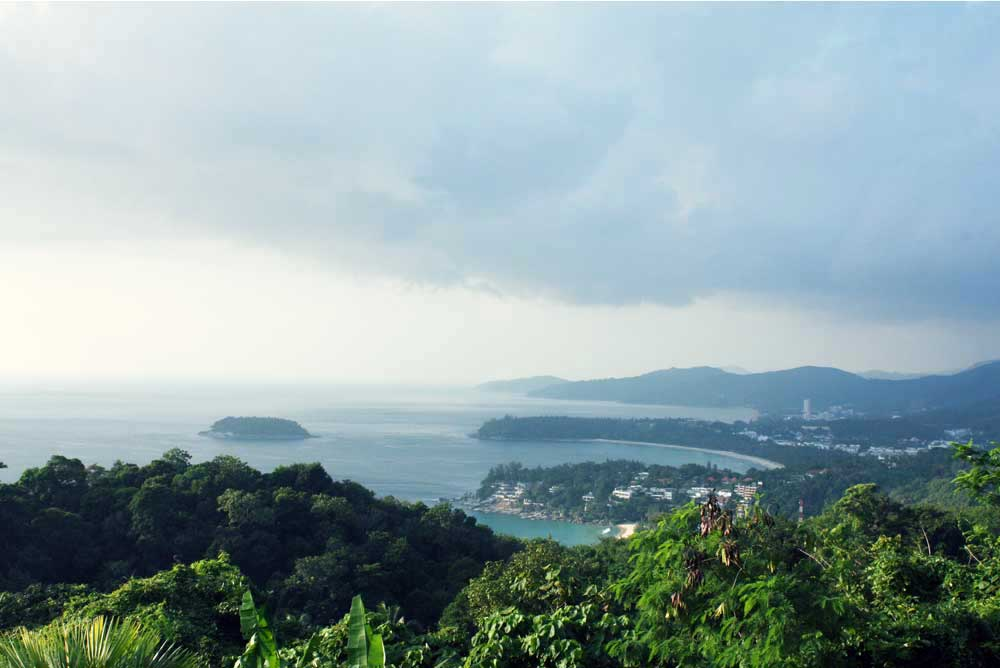 View of Phuket's famous beaches