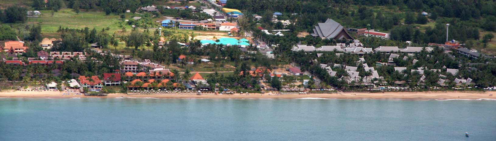 Ariel view of Bang Niang Beach