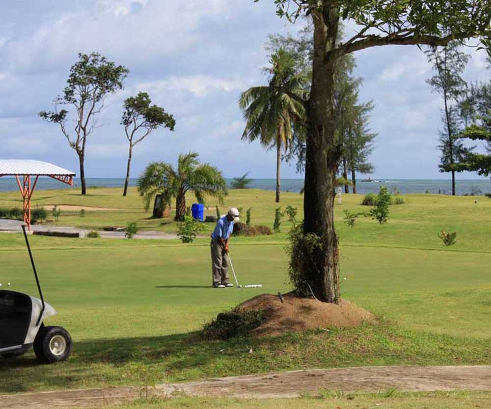 On the Green at Tap Lamu Golf Course